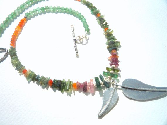 A Beautiful One Of A Kind Natural Gemstone Necklace!