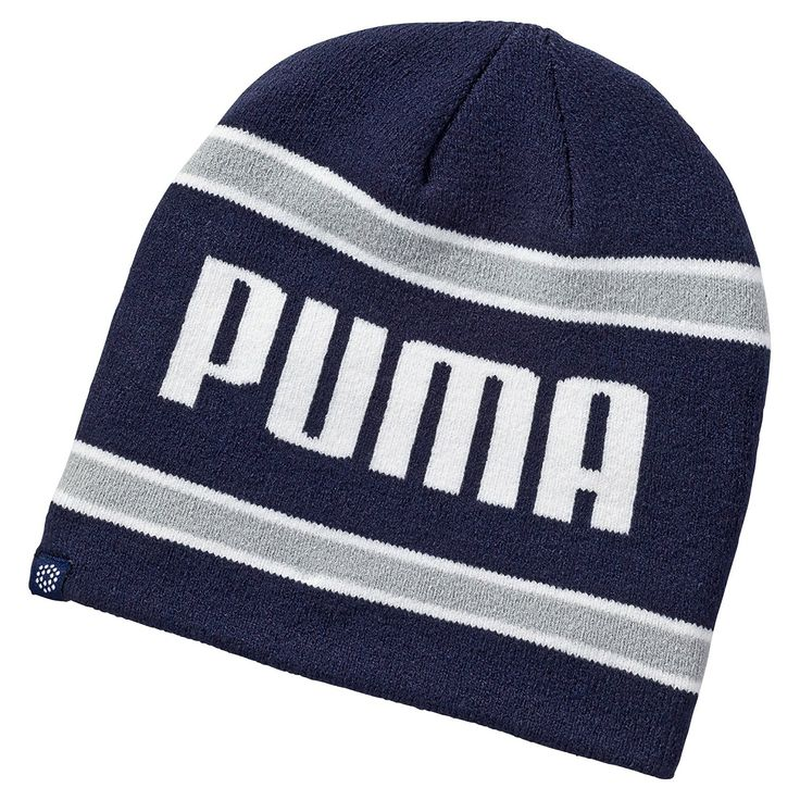 Look your very best on the golf course with this stylish looking mens stripe golf winter beanie hat by Puma!