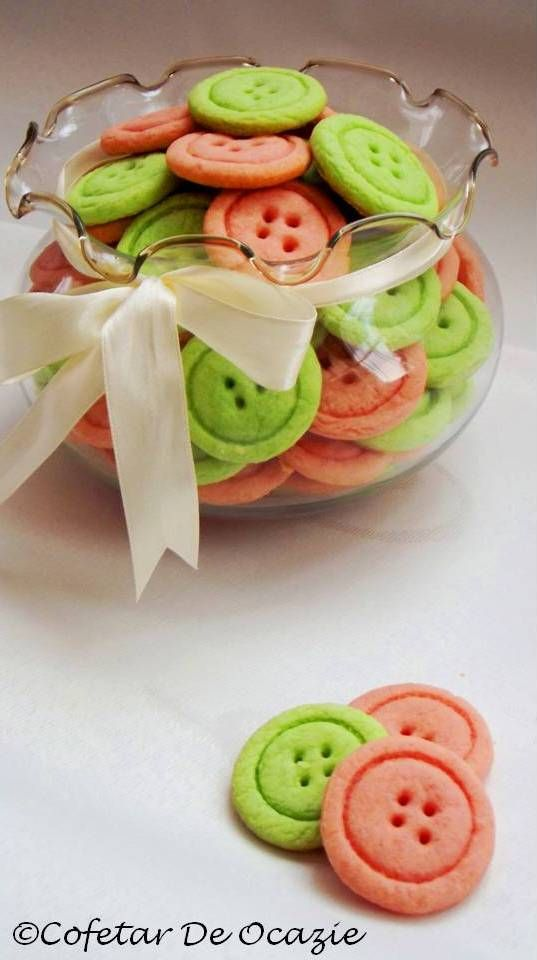 Vegan Button Cookies