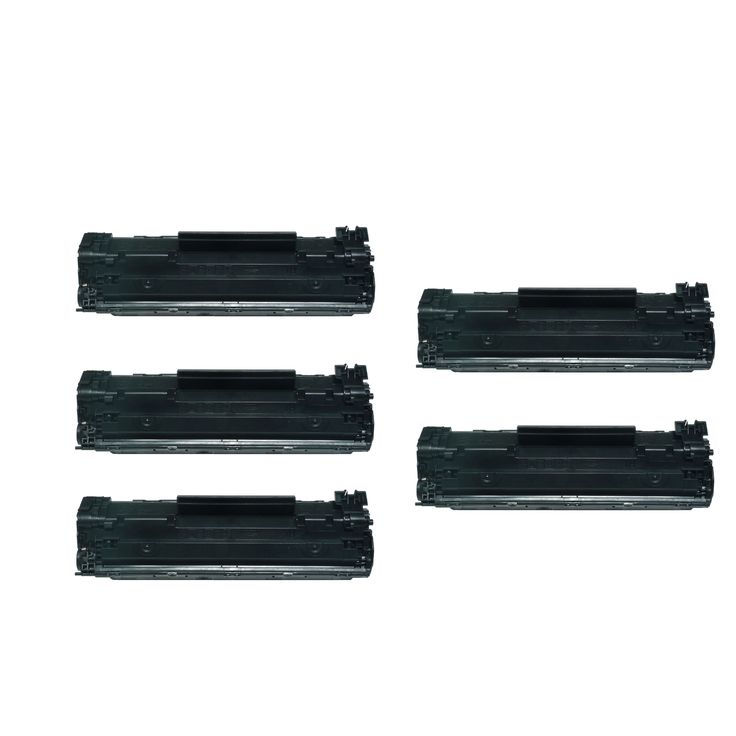 Prinko 5-Pack HP 12A Q2612A Compatible Toner Cartridge For HP LaserJet 1012 1018 1020 1022 3050 M1319F #2612A-5P