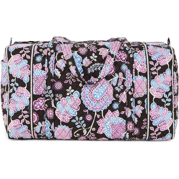Vera Bradley Large Duffel Travel Bag in Alpine Floral ($85) via Polyvore featuring bags, luggage, alpine floral, bridal party gifts and gifts