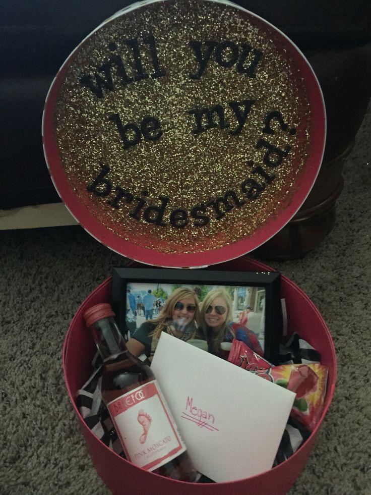 Cute Way To Ask Bridesmaids!   #wedding #pinkandgold #bridesmaids #bestfriends…