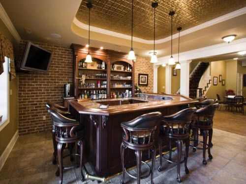 Bar Area Inside A Magnificent Estate In New Hope, Pennsylvania