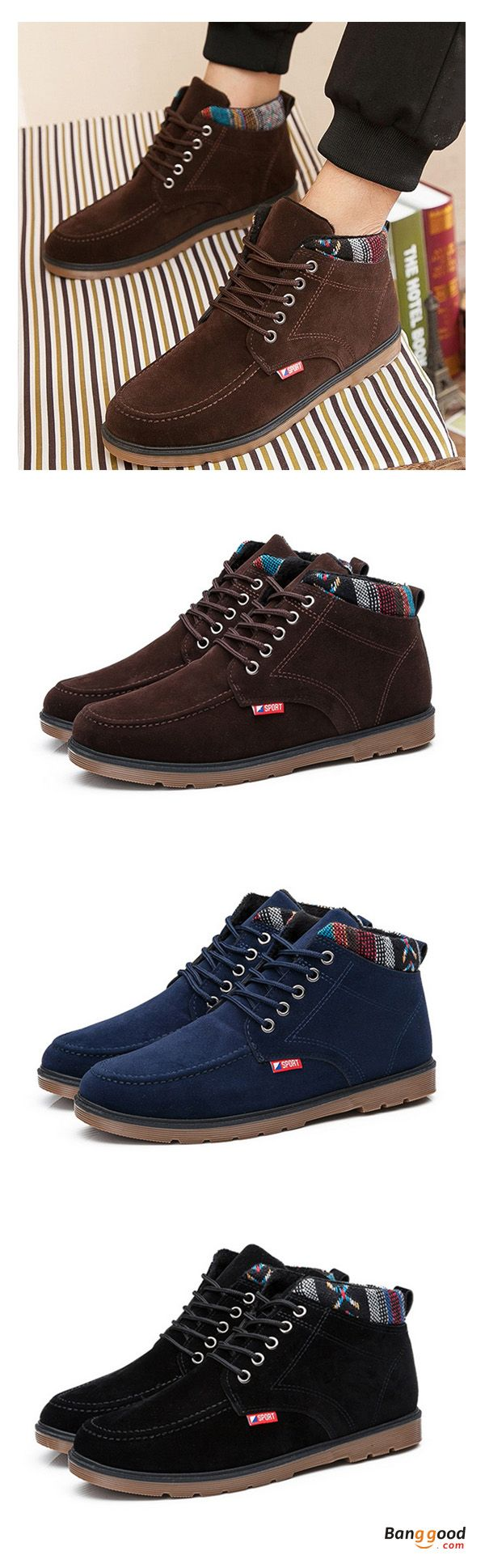 US$37.28+Free shipping. Short Boots For Men,  Lace Up, Round Toe, Color: Black, Brown, Blue. Shop now~