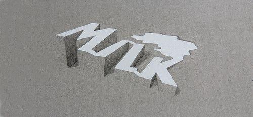 Milk - 3D typography [Lex Wilson]