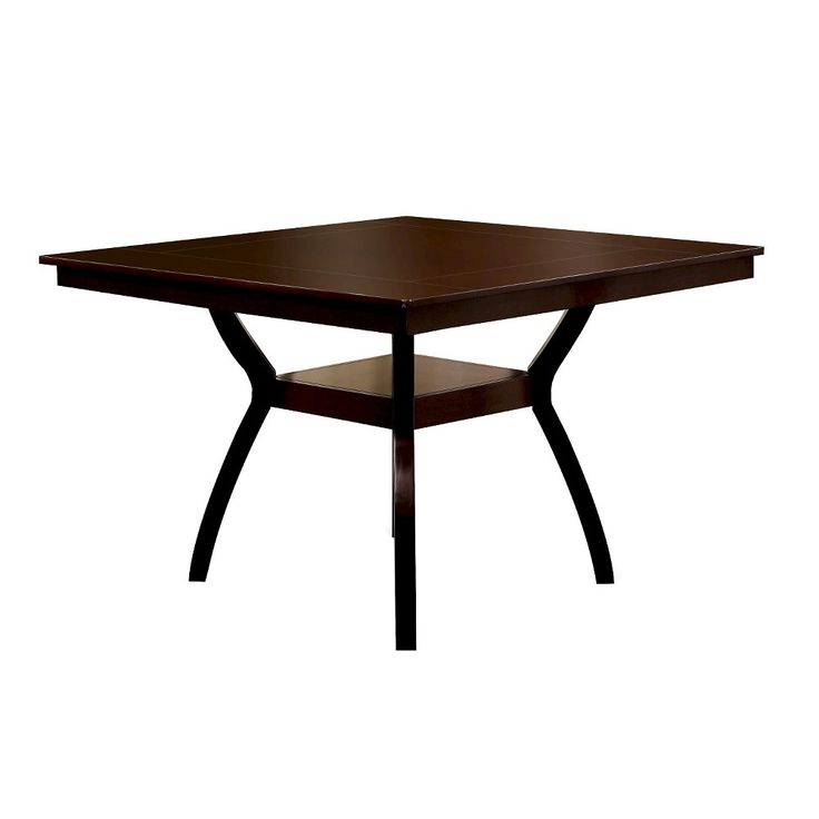 Wooden Top Counter Dining Table Wood/Dark Cherry - Furniture of America