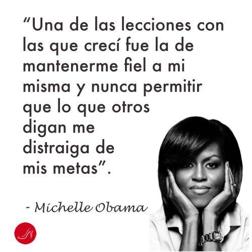 Cita inspiradora de Michelle Obama