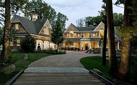 L shape shingle style dream houses pinterest 3 car New england architects