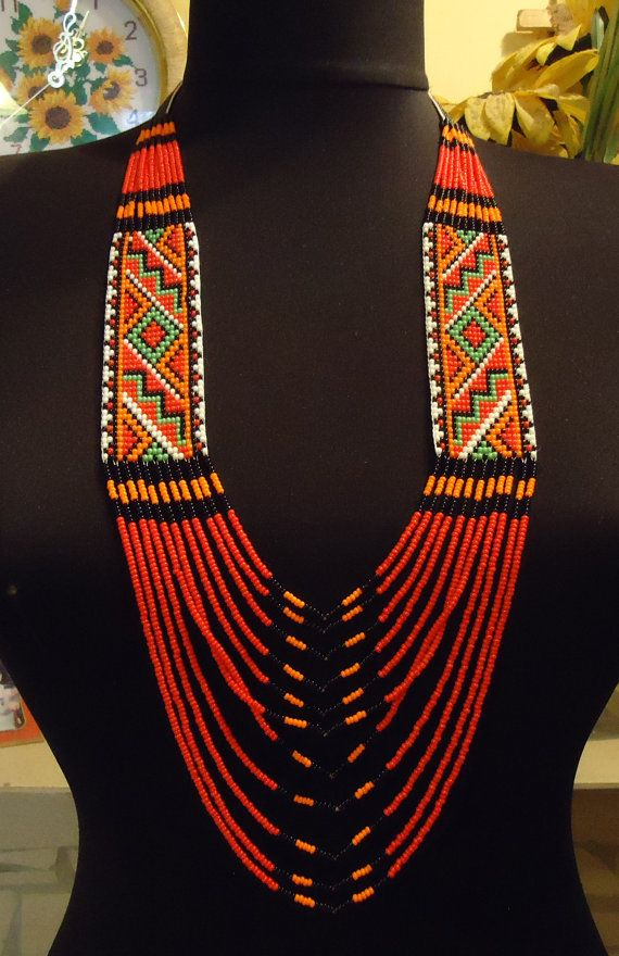 Free Shipping Ukrainian Handmade Jewelry Beaded by PysankaFolkArt