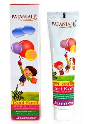 This Dental cream is a marvellous product to protect the teeth. Akarkara and babul are the prime ingredients to protect the power of gums. Neem, Timbaru (Strychnos nux vomica or Diospyros), Turmeric and cloves provide great protection and remove bacteria. DANT KANTI JUNIOR 100gm Price Rs.35