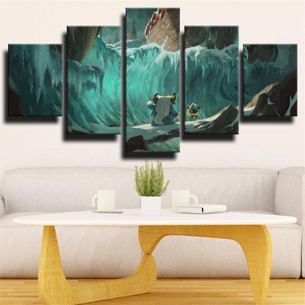 Dota 2 Medusa In 2020 Green Canvas Art Canvas Art Wall Decor Canvas Decor