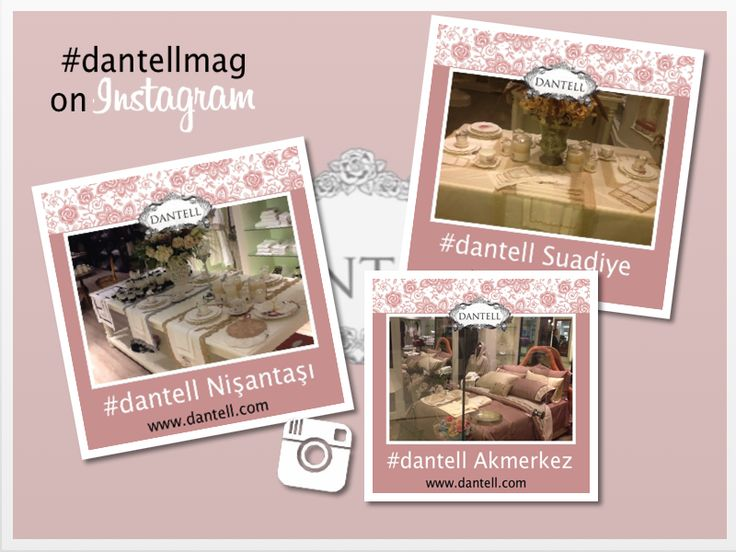 #Dantell #new_collection is in all our stores... #Akmerkez #Suadiye #Nisantasi #GrandBazaar #dantellbrand #hometextile