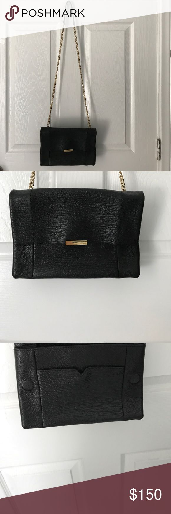 FINAL DISCOUNT 100% real leather $60 Excellent condition; like new; good quality brand; leather; lowered the price to $75 discounted price . Magnetic flip; easy to open and close; formal or casual look; FINAL PRICE Ted Baker Bags Crossbody Bags