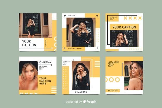 Download Instagram Set Of Posts Template For Free Instagram Post Template Instagram Template Design Instagram Feed Layout