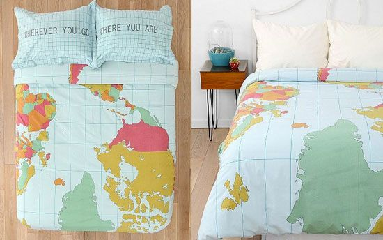 map bedding - Urban Outfitters