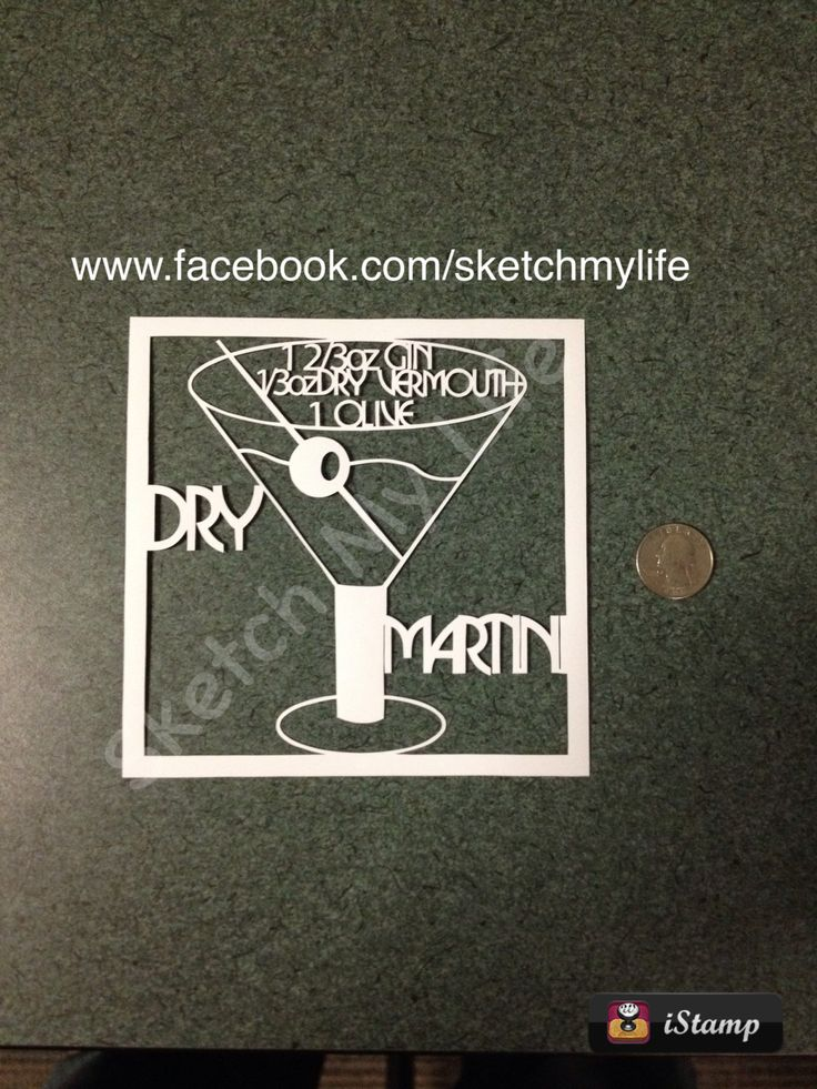 Dry Martini Paper Cutting Template by SketchMyLife on Etsy, $5.00