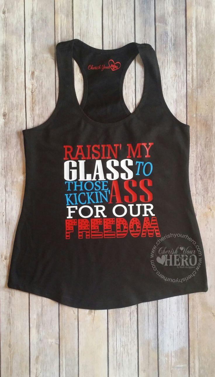 Raisin My Glass,4th of July Tank Top or Tee, Merica tank, Patriotic shirts, Fourth of July shirts,Women's Clothing, Fourth of July tanks by CherishYourHero on Etsy https://www.etsy.com/listing/280220142/raisin-my-glass4th-of-july-tank-top-or