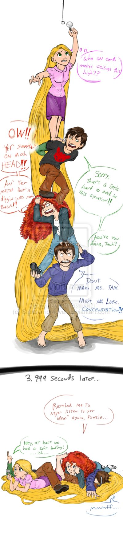 It takes Four, apparently by Starwarrior4ever.deviantart.com on @deviantART. Why is the ceiling that high?!