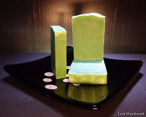 Peppermint Bar Soap  Handmade by LoveHandyWork on Etsy