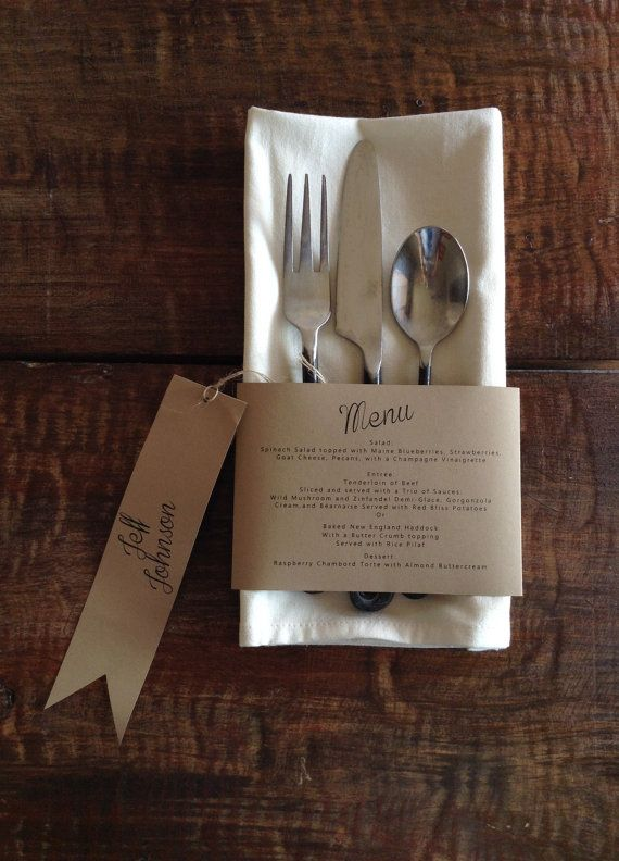 Napkin Menu Rap by 2beUdesign on Etsy