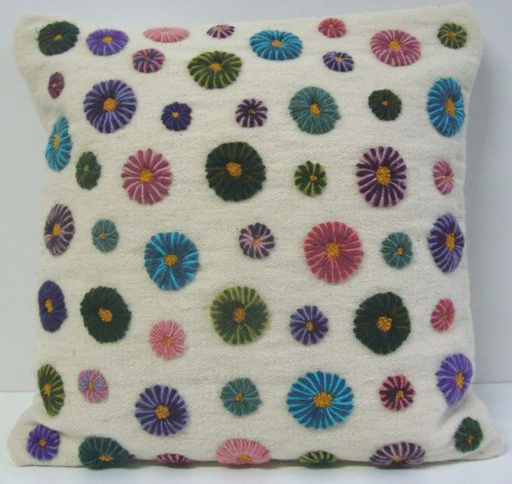 Hand Embroidered Pillow Exclusive by DubrasenHome