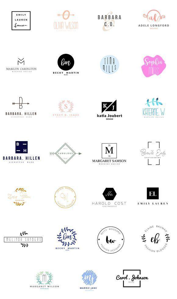 Feminine Logo Templates Simple Logo Design Logo Design Feminine Logo Templates