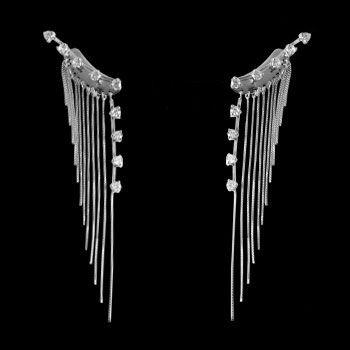 Brinco de Prata Contorno de Orelha (Ear Cuff)-29382