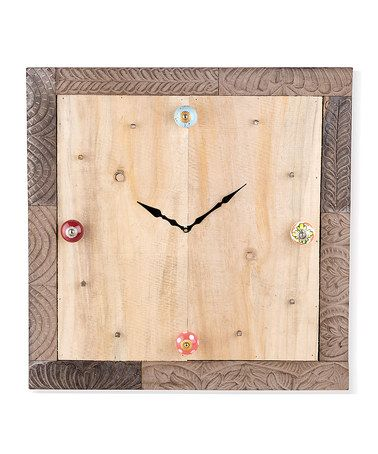 Take a look at this Large Collectors' Corner Frame Wall Clock by Foreside on #zulily today!