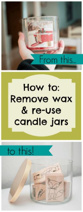 Dwell Beautiful shows you how to reuse candle jars and wax to get the most bang for you buck from store bought candles. Learn how to get old wax out of jars