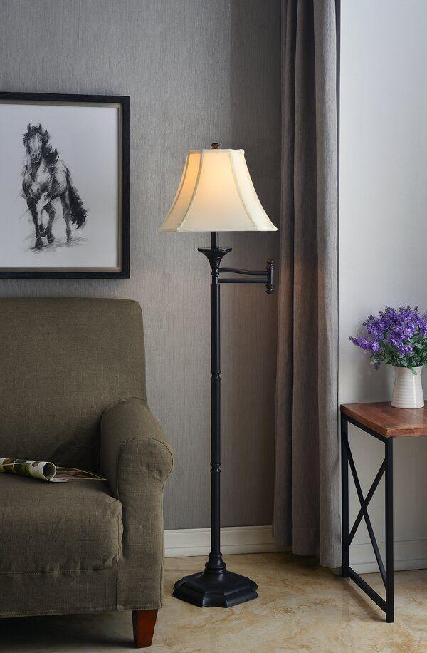 Herscher 59 Swing Arm Floor Lamp In 2020 Swing Arm Floor Lamp Lamp Floor Lamp