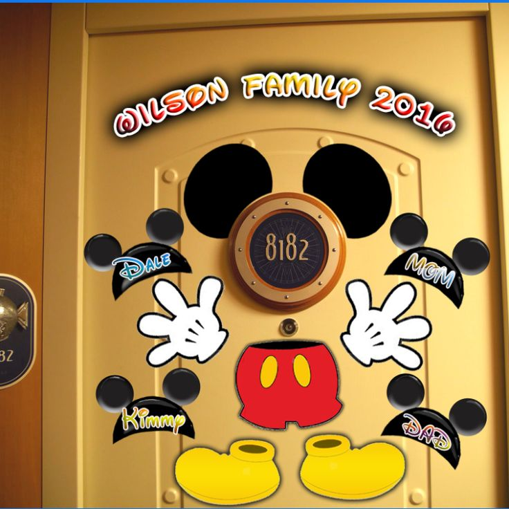 Mickey Body Cruise Door Magnet FREE QUOTE AT ANDREA@MAKEBELIEVEVACATIONS.COM