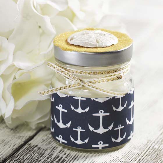 DIY Decoupage - Budget Wedding Favors - Nautical Candle Holder