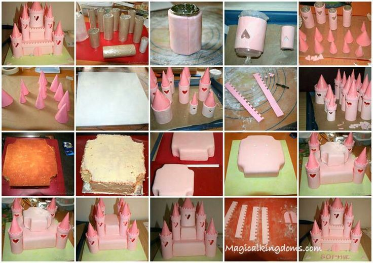 Constructing a castle cake