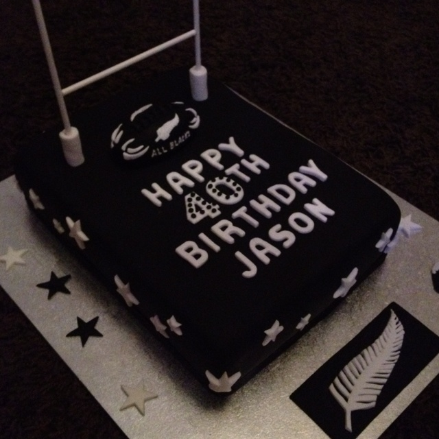 All Blacks Cake Rugby Cake Birthday Cakes For Men