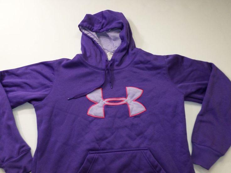 Womens under Armour Hoodie Size Medium M UA Long Sleeve Pull Over Sweat Shirt #UnderArmour #Hoodie