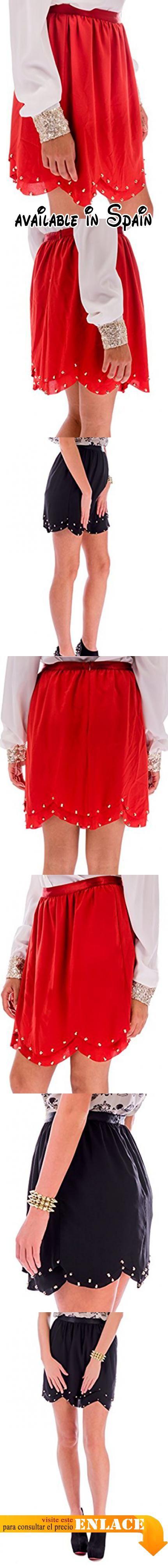 B06Y17RX8N : Ça Va Bien Fashion - Falda - para mujer naranja Tango 36.
