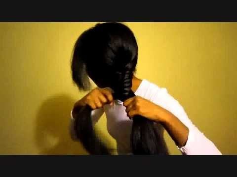 Fishbone/Fishtail Braid on African American NATURAL Hair (flatironed)
