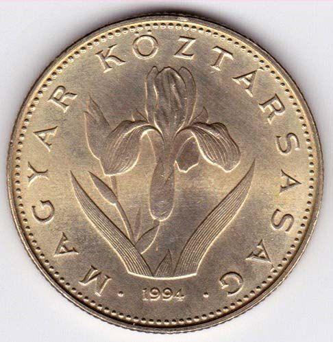 Moneta intenditore - fiore di Iris Ungheria Coin KM 696 - 20 forint
