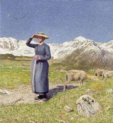 Giovanni Segantini, Mezzogiorno sulle Alpi, 1891,, 77,6 x 71,5 cm, Museu Segantini, St. Moritz