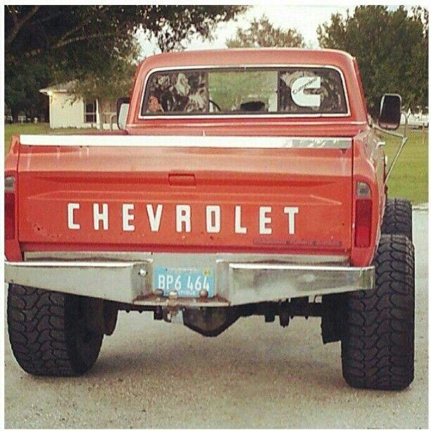 www.DieselTruckGallery.com Old Chevy with a Cummins Diesel Engine