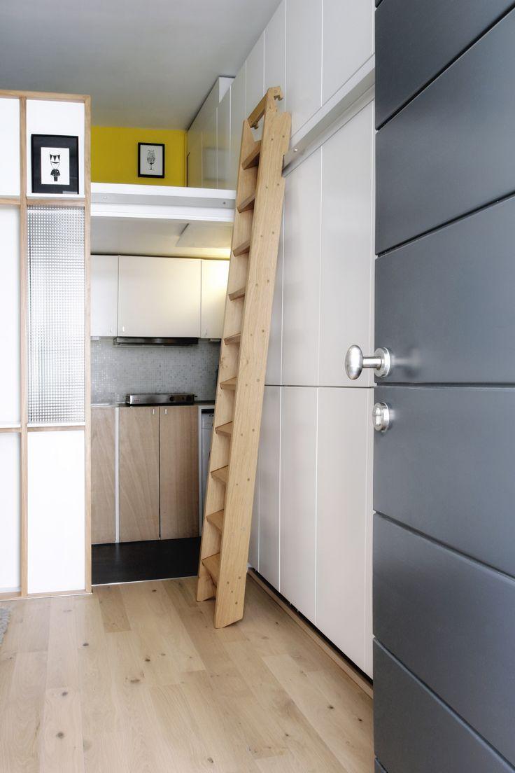 aménagement d'intérieur d'un appartement de 14,88 m2. Crédit photos ANTHONY SERPE