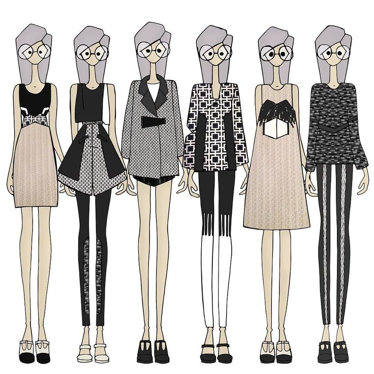 """#lineup #tilbakeblikk #flashback #esmod #sketch"" From the collection ""perspective"" inspired by geometry and optical illusions.  Design: Marte Treider"