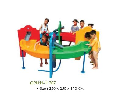 Green Toys from Greenpro India like Slides, Merry-go-around, Seesaws, Swings, Small beautiful houses for kids to play, Spring Riders, Shelter, Shades, Ride-on and many other delightful playground equipments.