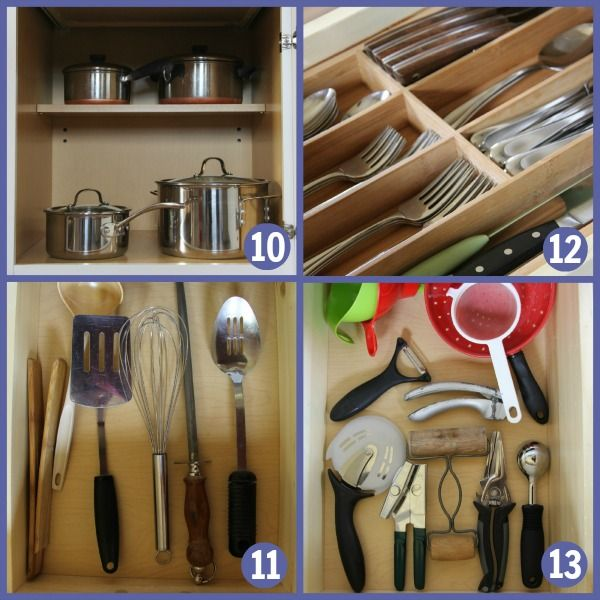 Kitchen Tour, Cabinets and Drawers. What items are necessary in a kitchen.