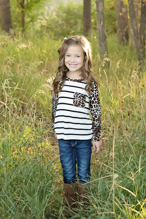 Cheetah top, boutique, Pocket top, Online shopping, Online boutique, Ryleigh Rue, Kids clothing, fashion