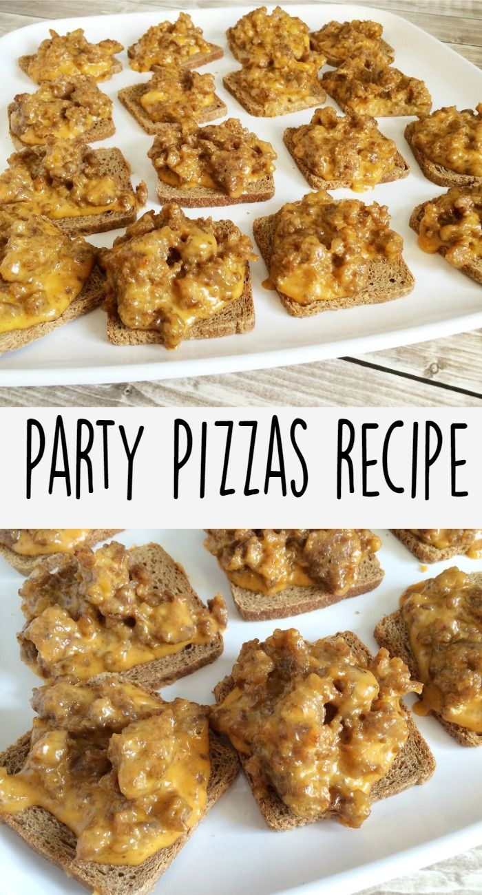 Rye Bread Party Pizza Recipe - Sippy Cup Mom