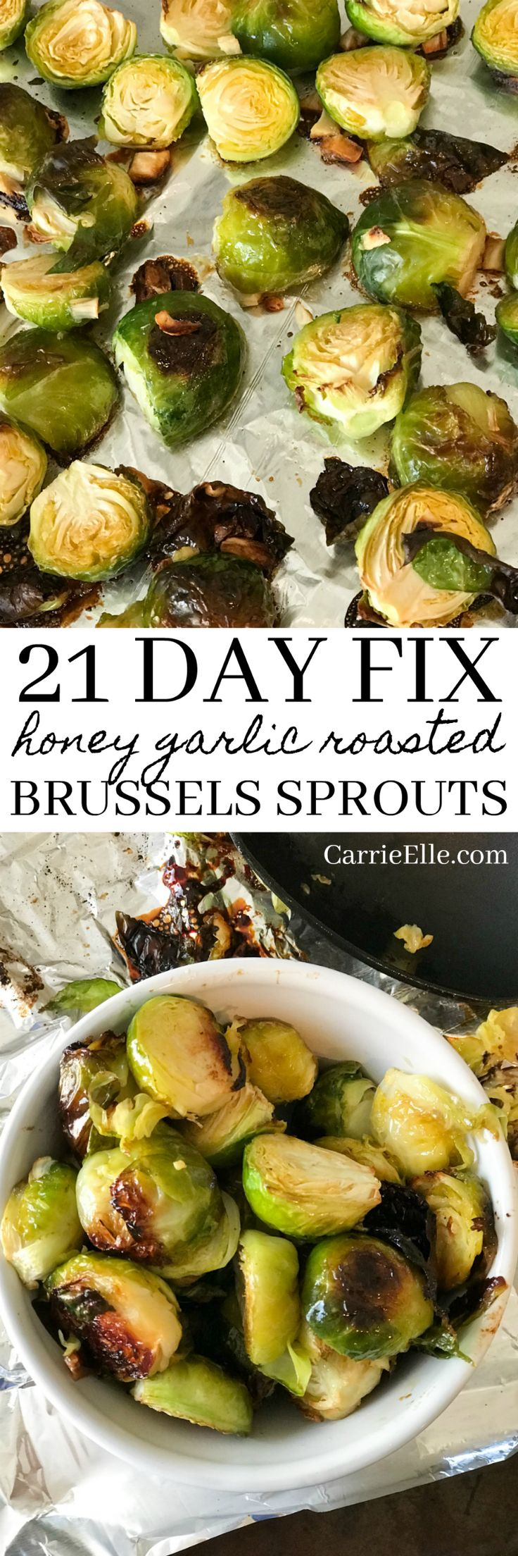 21 Day Fix Honey Garlic Roasted Brussels Sprouts