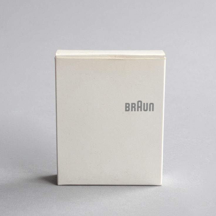 Beautiful Braun packing designed by Dieter Rams – We are collectors, share our passion – Only/Once – www.onlyonceshop.com
