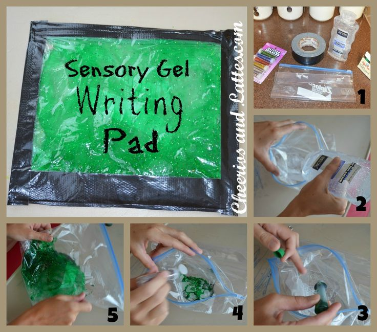 Make Your Own Sensory Gel Writing Pad From Http Www