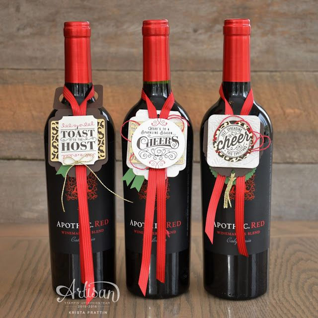 Stampin' Dolce: WINE BOTTLE TAGS - ARTISAN DESIGN TEAM BLOG HOP